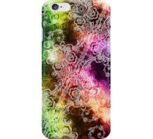 White Lace on Dark Rainbow iPhone Case/Skin