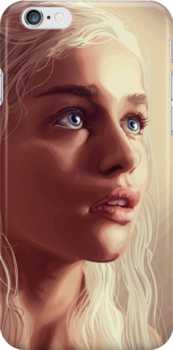 Daenerys Targaryen iPhone Case by Tyler Coare