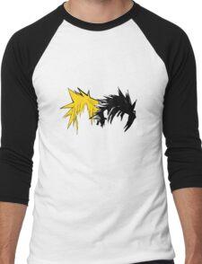 Final Fantasy Hair Men's Baseball ¾ T-Shirt