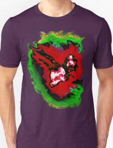 Dark red  green phoenix T-Shirt