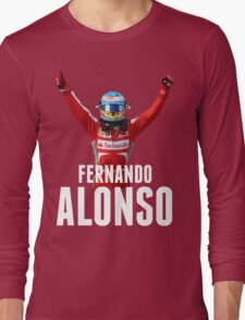 Fernando Alonso - Ferrari - Victory Long Sleeve T-Shirt