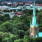 The Haga church from above by Madsen1981