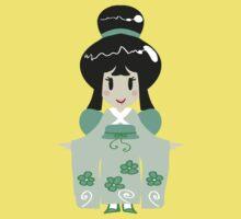 Green Kimono Girl One Piece - Short Sleeve