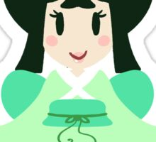 Green Kimono Girl Sticker