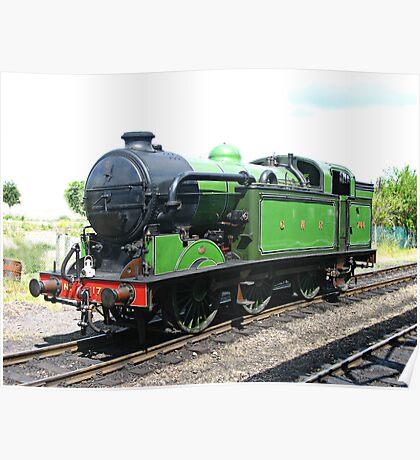 Vintage steam train , railway engine Poster