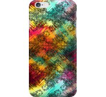 Black Lace Over Tempered Rainbow Glass iPhone Case/Skin