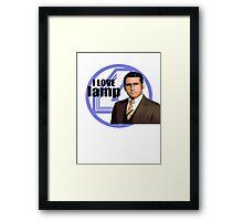 Anchorman - Brick Framed Print