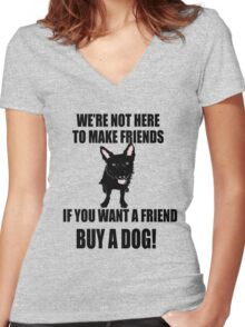 Buy a Dog! Women's Fitted V-Neck T-Shirt