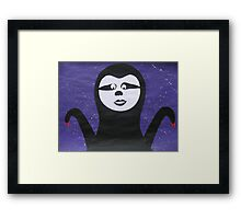 Goth Sloth- - collage with math books- rhymes for kids Framed Print