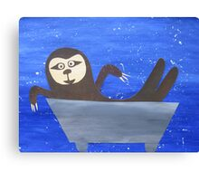 Sloth in a trough Canvas Print