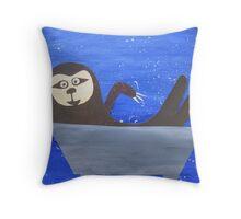 Sloth in a trough Throw Pillow