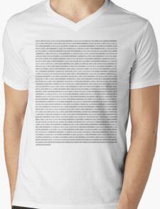Binary SHirt Mens V-Neck T-Shirt