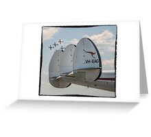Roulettes Flypast Super Constellation Greeting Card
