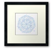 Spring Stars Mandala Framed Print