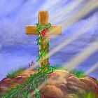 Rose Cross by EllieTaylorArt