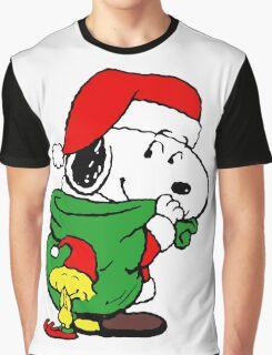 Snoopy Santa Claus Graphic T-Shirt