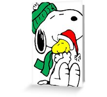 Snoopy and Woodstock Christmas Love Greeting Card