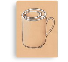 Electronic Mug Canvas Print