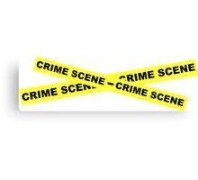 Crime Scene Tape Canvas Print