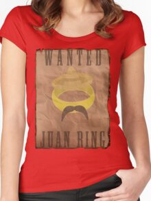 Lord of The Rings Parody - The Juan Ring Women's Fitted Scoop T-Shirt