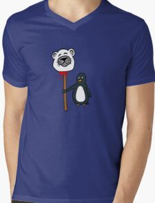 Penguin's Revenge Mens V-Neck T-Shirt