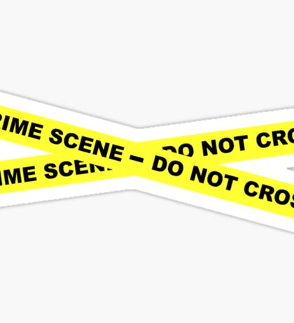 Crime Scene - Do Not Cross Sticker