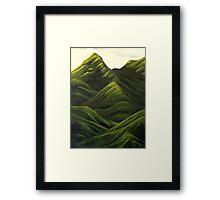 velvet hills Framed Print