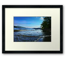 The Beach Report Framed Print