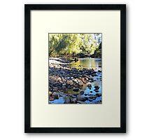 Gloucester Riverbank Framed Print