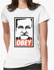 RAJOY OBEY Womens Fitted T-Shirt
