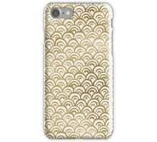 Gold Foil Fish Scales Pattern iPhone Case/Skin