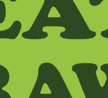 Eat Raw Sticker