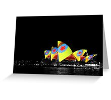 Opera House, Vivid Sydney Greeting Card