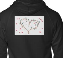 Michael&Fi Heart Sweatshirt Zipped Hoodie
