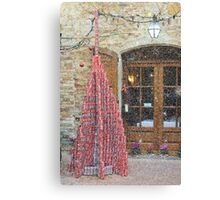 Coke-tin Christmas tree, Pienza, Tuscany, Italy Canvas Print