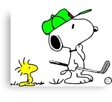 Snoopy on Golf Canvas Print