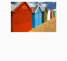 Multi-coloured beach Huts Unisex T-Shirt