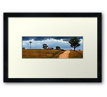 Australian Windmill Landscape Framed Print