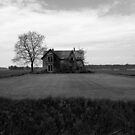 This Old House 12 Black And White Version by Barry W  King