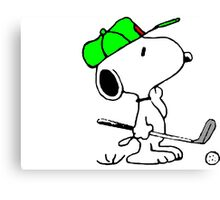 Snoopy and Golf Canvas Print