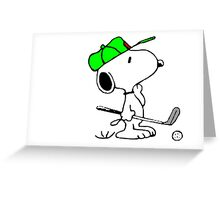 Snoopy and Golf Greeting Card