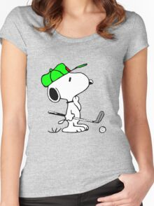 Snoopy and Golf Women's Fitted Scoop T-Shirt