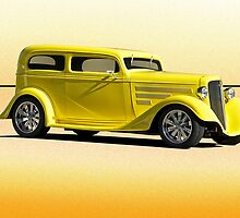 1935 Chevrolet Sedan - 'Lemon Zest' by DaveKoontz