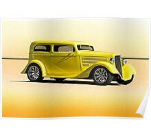 1935 Chevrolet Sedan - 'Lemon Zest' Poster