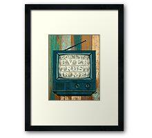 DON'T TRUST (BLUE VARIANT) Framed Print