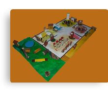 Lunch box dolls house Canvas Print