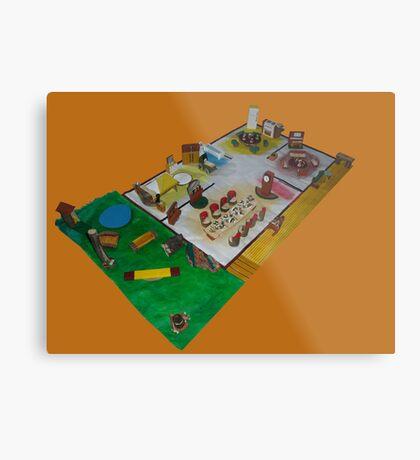 Lunch box dolls house Metal Print
