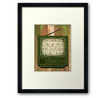 DON'T TRUST (GREEN VARIANT) Framed Print