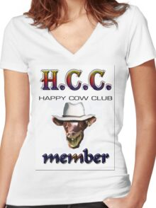 H.C.C. MEMBER Women's Fitted V-Neck T-Shirt