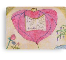 I turned my Heart into a Book. Canvas Print